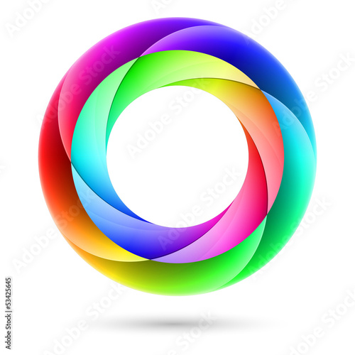 Colorful spiral ring