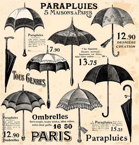 Vintage umbrella background © lynea