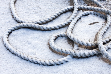 frozen ship cable