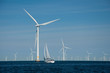 Offshore wind farm + yacht
