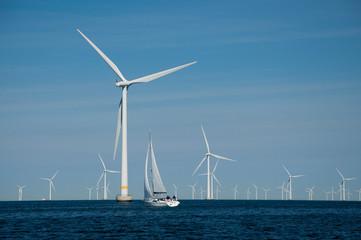 Offshore wind farm + yacht