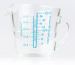 Measuring cup containing water