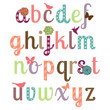 Girly Alphabet Vector Set - More Letters in Portfolio