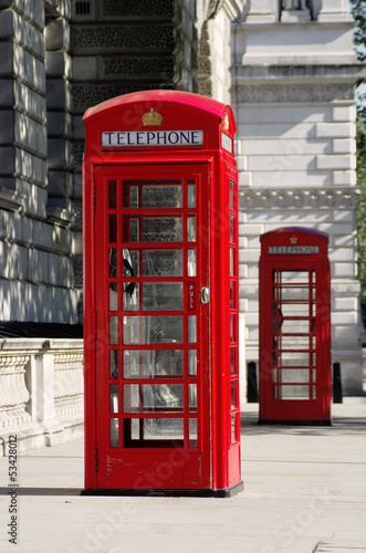 Red Phone Boxes Old Style In London
