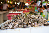 Oysters on the seafood market, Philippines
