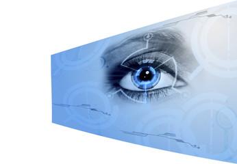 ojo en la tecnología