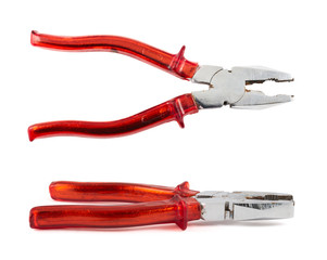 Lineman's combination pliers hand tool isolated