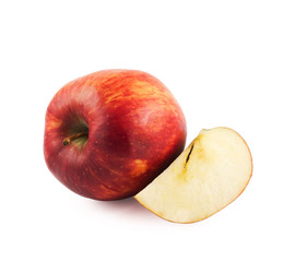 Ripe red apple isolated