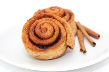 Cinnamon rolls on a plate