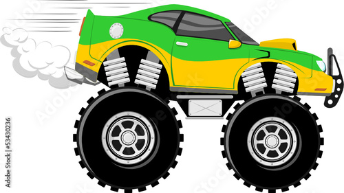 race car 4x4 monster car