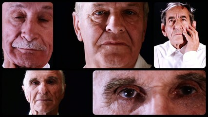 elderly men collage
