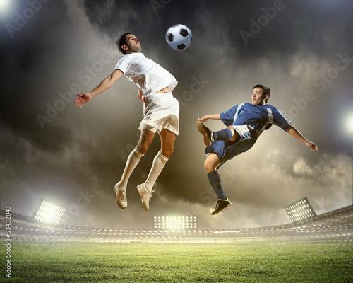 Leinwandbild Motiv Two football player