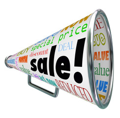 Sale Bullhorn Megaphone Advertising Special Price Event