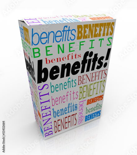 Benefits Word Product Box Marketing Unique Qualities