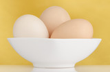 Three eggs in the bowl