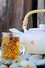 Hot Tea - Tea Glass Pitcher.