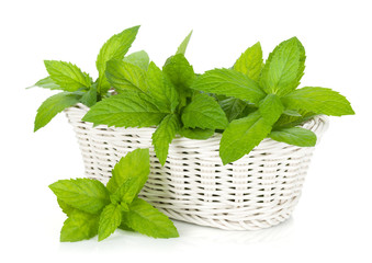 Basket of fresh mint
