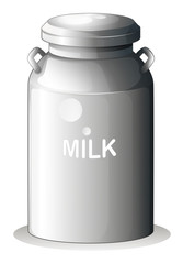 A canned fresh milk