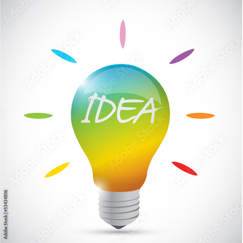 colorful idea lightbulb illustration design