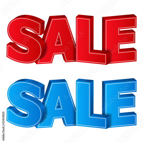 Red and blue sale words