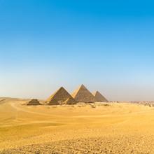 Grandes pyramides de Gizeh vallée, Le Caire, Egypte
