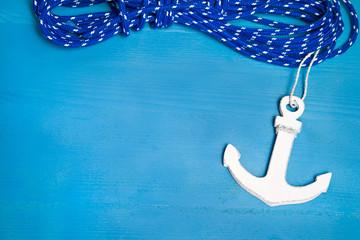 Anker - Hintergrund blau navi - Glück