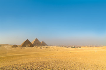 Great pyramids in Giza valley, Cairo, Egypt