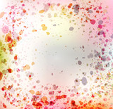 Vintage vector colorful abstract background