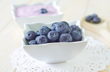 yogurt and blueberry