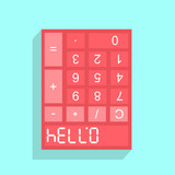 Calculator display with HELLO - 07734
