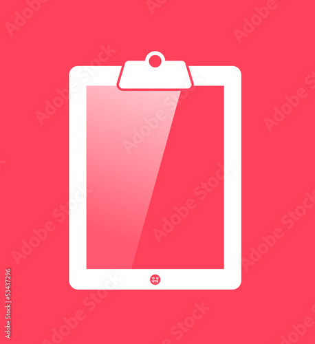 Clipboard tablet