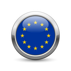 European flag icon web button
