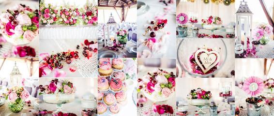 Wedding decorations collage