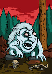 Angry troll in the forest