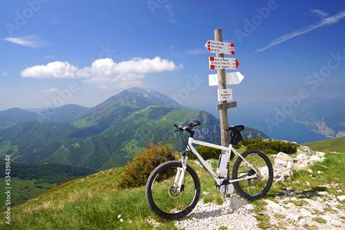 Poster Fietsen e-bike, pedelec, gardasee, fahrrad, mountainbike