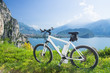 canvas print picture - e-bike, pedelec, gardasee, fahrrad, mountainbike