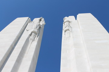 Spires of the Canadian Vimy Ridge Memorial, France