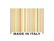 barcode made with italian spaghetti