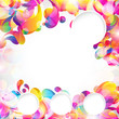 Card background. Abstract bright color drops and clean place.