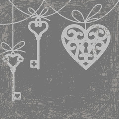 heart and skeleton key