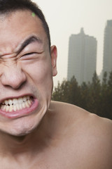 Young Athletic Man Growling