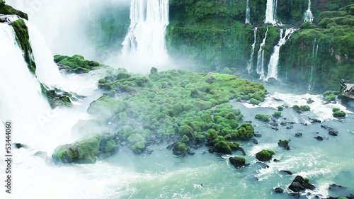 Iguassu Falls,waterfalls of the world.View from Brazilian side