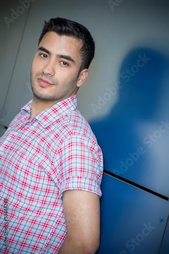 Portait of gorgeous turkish man, outside shot