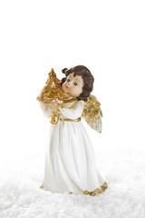 Weihnachtlicher weißer Engel als Dekoration