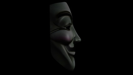 Anonymous mask seamless rotate loop