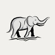 Grey Elephant Vector