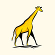 Golden Giraffe Vector