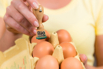 eier bekommen den bio stempel
