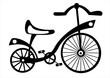 children's bike on white background