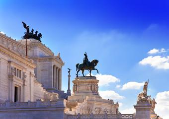 Piazza Venezia in central Rome,Monument for Victor Emenuel II.